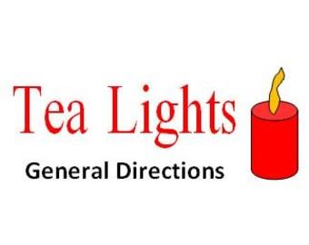 Tea Light Pattern Directions
