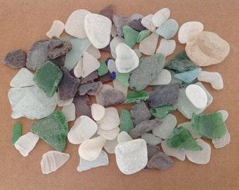 200 plus Rare Beach Glass Mixed Colors Beach stones  Bulk Sea Glass sea glass jewellery Beach stones Mosaic supplies Mosaic art