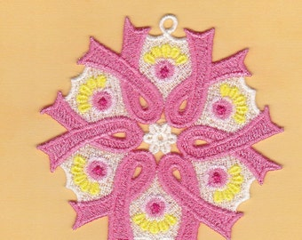 Lace Breast Cancer ornament