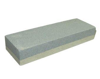"""6"""" Fine / Coarse Aluminum Oxide Combination Sharpening Stone TJ9206"""