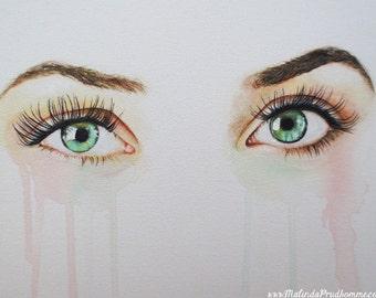 Custom Eye Painting - Realistic Eye Art - By Toronto Portrait Artist Malinda Prud'homme