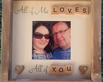 Valentines Gift | Scrabble Quote Frame | Love Quote | Girlfriend / Wife Gift | Boyfriend / Husband Gift |