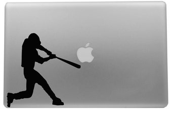 Baseball Player APPLE COMPUTER Decal - Cell phone - Macbook - Laptop - Macbook Decal