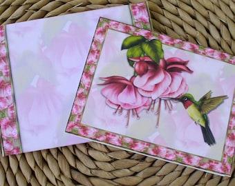 Hummingbird Blank Notecards Set of 12 With Matching Envelopes