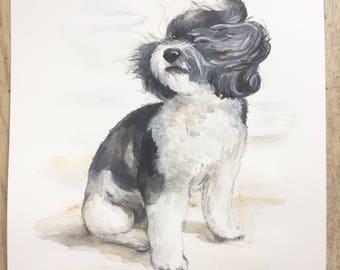 CUSTOM PET PORTRAIT, dog painting, custom pet painting, painting from picture, dog portrait artist, painting, memorial for dog, cat