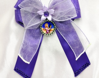 Rapunzel Bottle Cap Bow with Tails