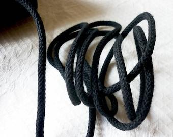 Cotton rope 5 mm black cotton macrame meter, weaving, DIY