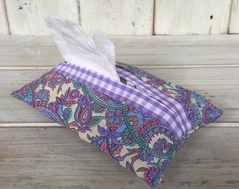 Fabric Tissue Holder, Fabric Tissue Pouch, Pocket Tissue Holder, Travel Tissue Holder, Wedding Favour, Handbag Tissue Holder