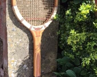 Vintage Retro Collectible Dunlop Maxply Fort Tennis Racquet 1950s