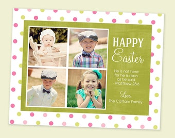 Happy Easter Multiple Photo Greeting Card - Digital File You Print