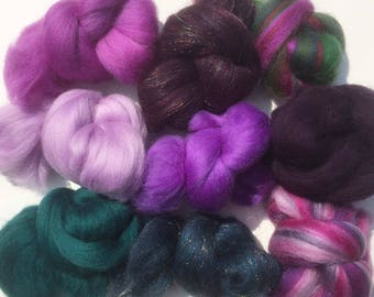 Felting Wools - Merino Wool Tops - Jewel pack of 9