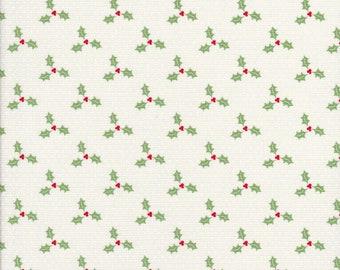 Swell Christmas - Holly Fabric - White Polka Dot Fabric - Urban Chiks - Moda Fabric -31126 21
