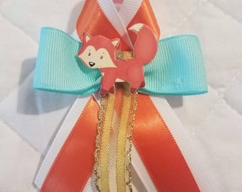 Set of 12 baby shower favor/baby shower guest pins/the woodlands animals baby shower favor.