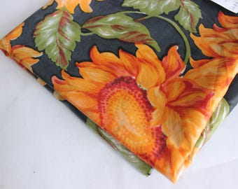Orange sunflower print nylon