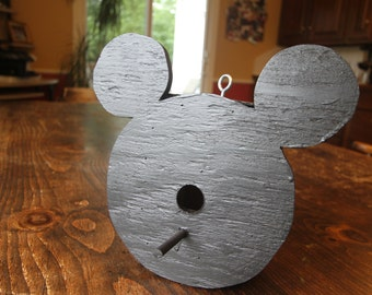 Mickey Mouse Birdhouse outdoor, Disney Birdhouse, Rustic Birdhouse - Free Shipping