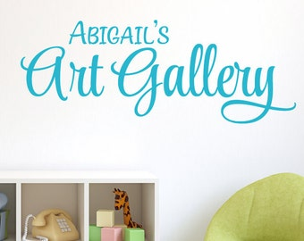 Personalized Art Gallery Wall Decal - Childrens Playroom Wall Decals - Playroom Decor - Bedroom Decor - Children Wall Decal