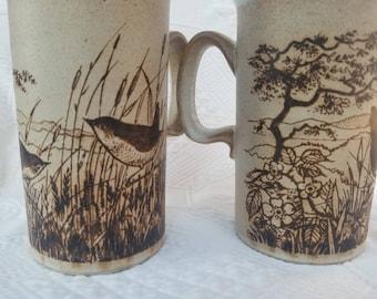 Vintage DUNOON Stoneware mugs set of 2