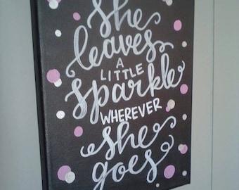 She Leaves A Little Sparkle Nursery Decor