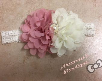 Lovely Dusty pink and Ivory Flower