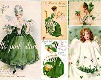 Saint Patrick's Day 02,  Printable Collage Sheet (digital download, printable)
