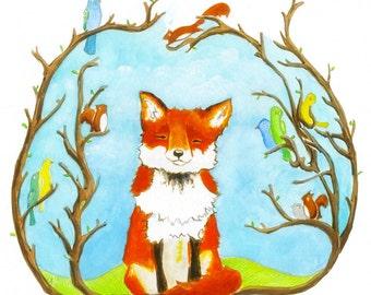 Fine Art Print - Happy Fox