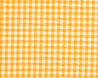 Gingham Fabric - Yellow Gingham 1/4 inch - Riley Blake