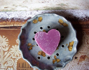 Ceramic SOAP dish Earth and jewelry