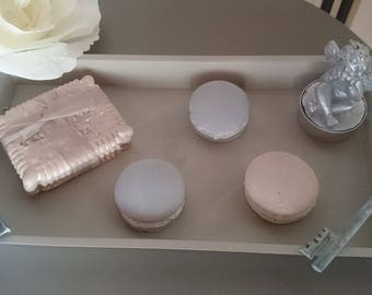 Small tray of sweets and Angel candle
