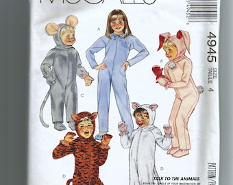 McCall's  Boys' and Girls' Animal Costume Pattern 4945
