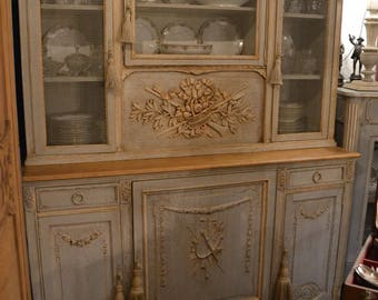 Buffet 2 body louis XVI weathered old