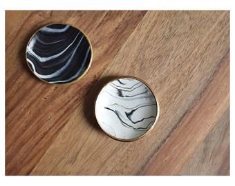 Marbled Ring Dish / Jewelry Dish / Wedding Gift / Bridesmaid Gift / Minimalist Decor