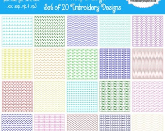 Stipple Quilt Block Backgrounds Machine Embroidery Designs - Set of 20 - 2 Sizes Instant Download Sale