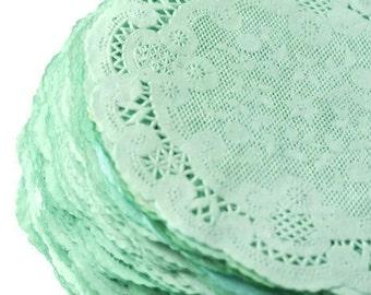 Paper Doilies Mint Green | French Lace Doilies | Mint Wedding Decoration Vintage Wedding Lace Doilies, Bridal Showers Baby Shower Mint Doily