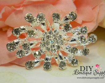 Rhinestone Brooch - Wedding Jewelry - Wedding Brooch Pin Accessories - Crystal Brooch Bouquet - Bridal Brooch Sash Pin 55mm 233198