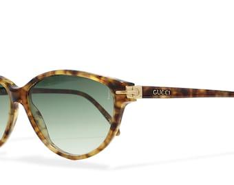 Gucci GG2162 037 Silver Vintage Sunglasses Cateye For Men