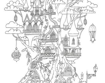 Colouring Sheet - The Cloud Tree