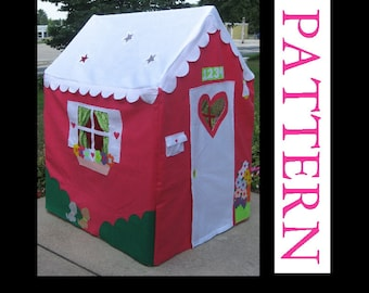 Playhouse Sewing Pattern, Sew a Large Playhouse to Fit a PVC Frame, INSTANT download ebook only