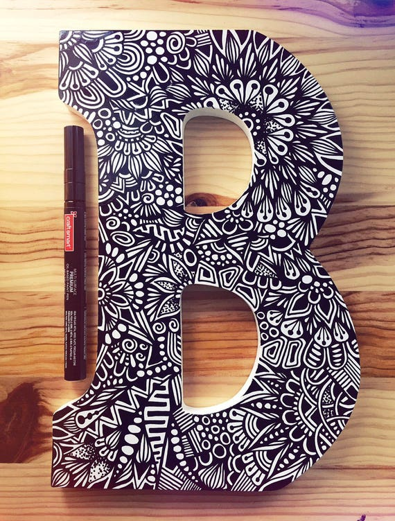 Custom Hand Painted Wooden Letter A-Z