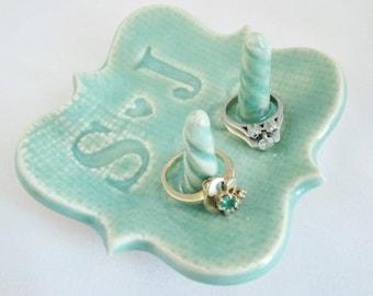 Wedding ring holder, Bridal shower gift, Engagement present, ring dish