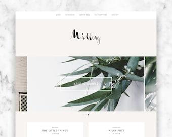 "modern wordpress theme ""MILKY"" - a responsive blog template"