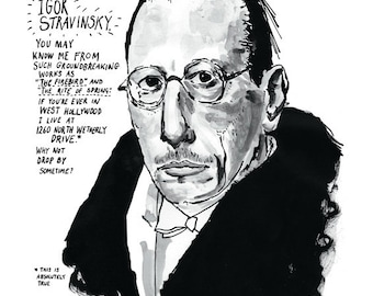 Igor Stravinsky poster print Great Classical Music Composer
