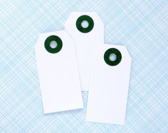 25 Little White Shipping Tags