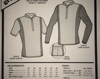 Green Pepper Men's Bicycle Racing Jersey multi-size sewing pattern #402