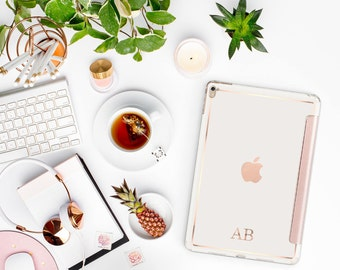 Rose Gold Permanent Embossed Letters and Monogram  - Touch of Personality and glamour for your iPad or iPhone -  Platinum Edition