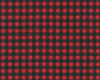 Robert Kaufman - Red Plaid - Burly Beavers - Fabric by the yard
