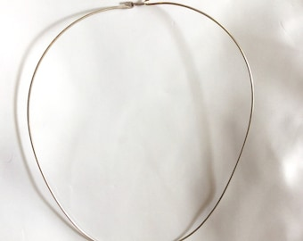 Sterling Silver Wired Choker 17""