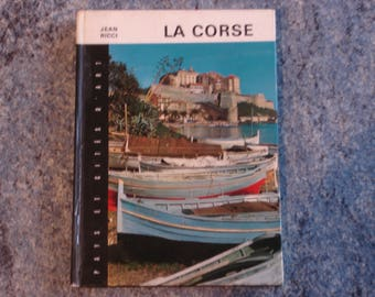 book about the Corsica with color photos and black and white 1971