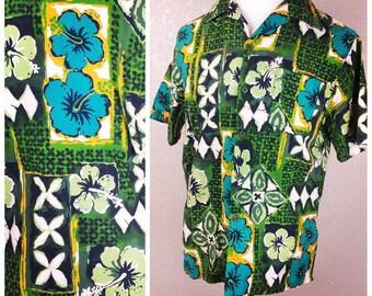 Vintage Janzten Tiki Hawaiian Shirt