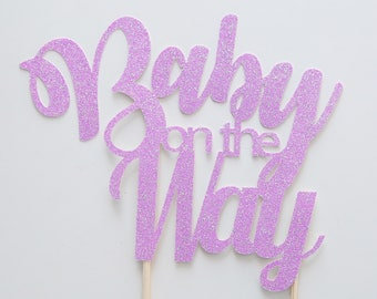 Baby on the way cake topper, Baby shower cake topper