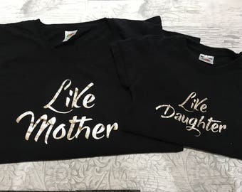 Like mother like daughter,Matching mother, daughter outfits, mom and baby matching, Mommy and Me Outfit, Mother, Daughter Shirts Outfit,